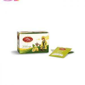 چای سبز کیسه ای با طعم لیمو   سفیر کالا
