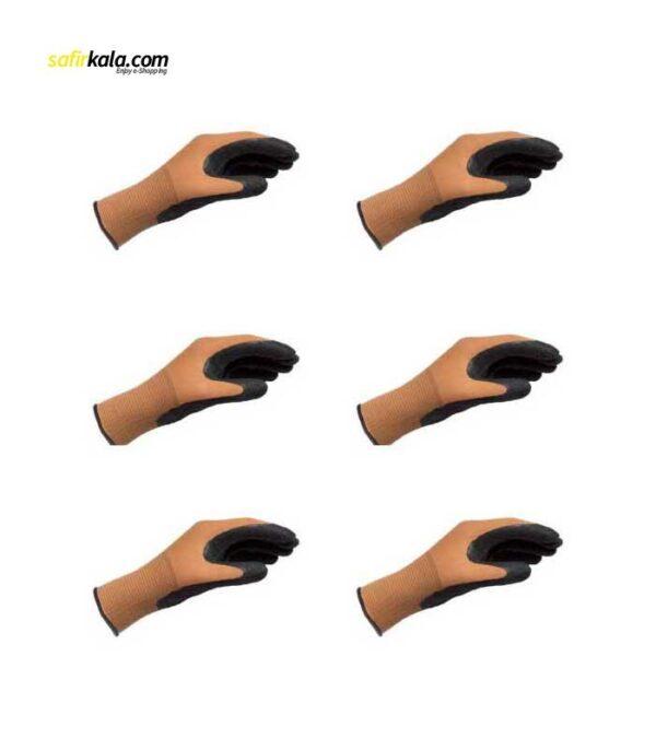 دستکش ایمنی وورث مدل ۴۰۰۵۳۱ بسته ۶ عددی | سفیرکالا