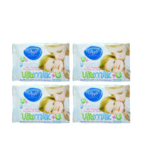 دستمال مرطوب کودک دافی مدل vita milk مجموعه 4 عددی | سفیرکالا