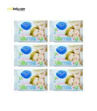 دستمال مرطوب کودک دافی مدل vita milk مجموعه 6 عددی | سفیرکالا