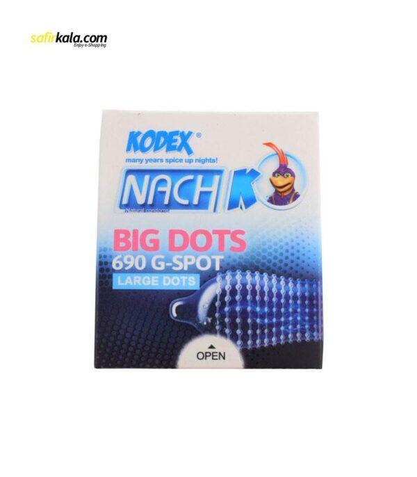 کاندوم ناچ کدکس مدل BIG DOTS بسته 3 عددی | سفیرکالا
