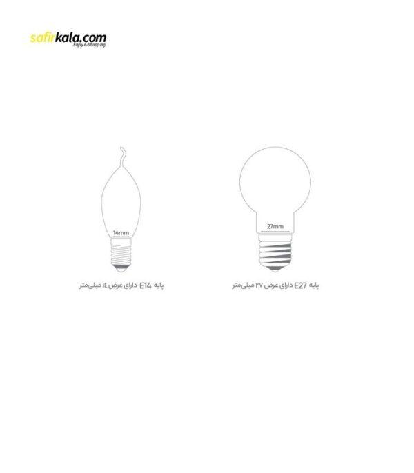لامپ ال ای دی 7 وات بروکس مدل C37L پایه E14 | سفیرکالا