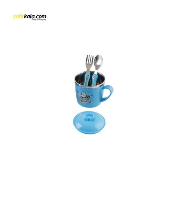 ست 10 پارچه ظرف غذای استیل کودک باوو پنگ مدل BABY06 | سفیرکالا