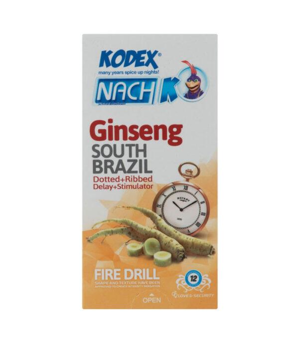 کاندوم تاخیری جینسینگ کدکس مدل Ginseng بسته 12 عددی | سفیرکالا
