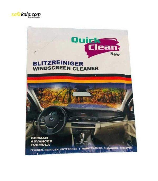 مایع تمیز کننده شیشه خودرو کوئیک کلین مدل QC2203 حجم 30 میلی لیتر بسته 40 عددی | سفیرکالا