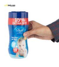 دستمال مرطوب کودک دافی مدل Sensitive بسته 60 عددی | سفیرکالا