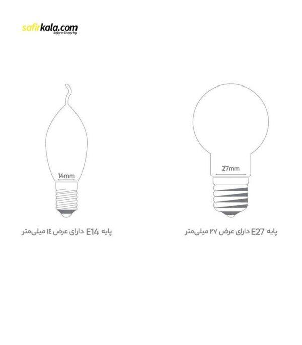 لامپ ال ای دی 10 وات بروکس مدل A60 پایه E27 بسته 5 عددی   سفیرکالا