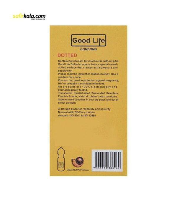 کاندوم گودلایف مدل Dotted بسته 12 عددی | سفیرکالا