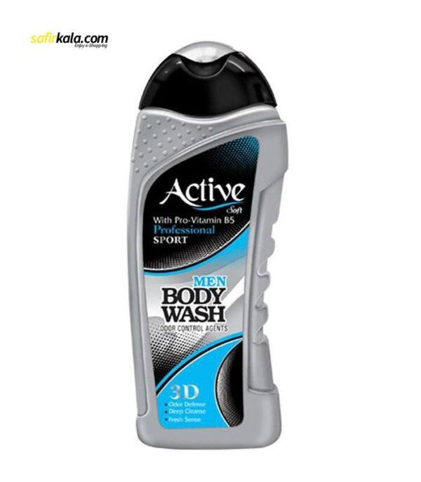 شامپو بدن مردانه اکتیو سری Sport مدل Silver مقدار 400 گرم | سفيرکالا