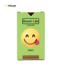 کاندوم گودلایف سری ایموجی مدل Fruity بسته 6 عددی | سفیرکالا