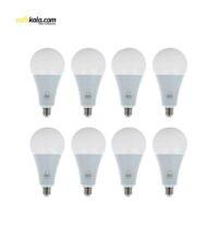 لامپ ال ای دی 15 وات بروکس مدل A70 پایه E27 بسته 8 عددی | سفیرکالا