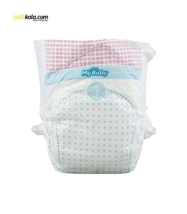 پوشک مای بیبی آبی سری مهربان با پوست سایز 1 بسته 40 عددی | سفیرکالا