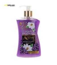 مایع دستشویی اکتیو مدل Grape & Flower مقدار 450 گرم | سفیرکالا