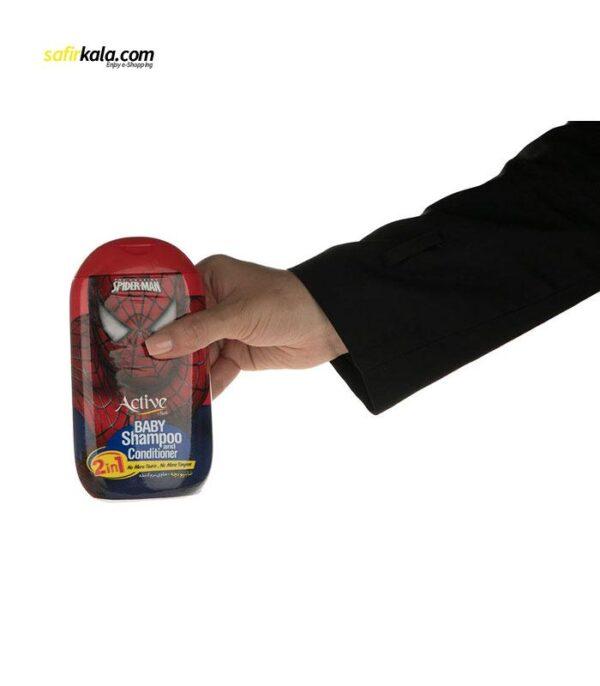 شامپو بچه اکتیو مدل Spider Man مقدار 280 گرم   سفیرکالا