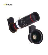 لنز کلیپسی تلسکوپی به همراه یک لنز زاویه دید گسترده مدل mobile phone lens 18x | سفیرکالا