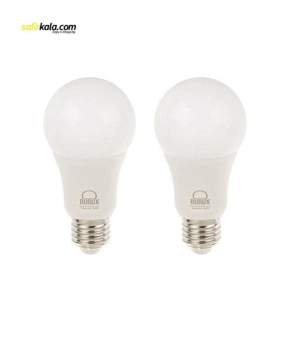 لامپ ال ای دی 12 وات بروکس مدل A60 پایه E27 بسته 2 عددی | سفیرکالا