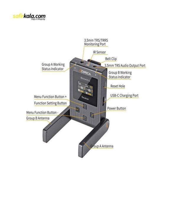 ست میکروفن بی سیم کامیکا مدل BoomX-U U2 | سفیرکالا