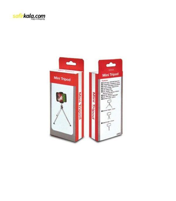 سه پایه وویا مدل Mini Tripod همراه با گیره ی نگهدارنده موبایل | سفیرکالا