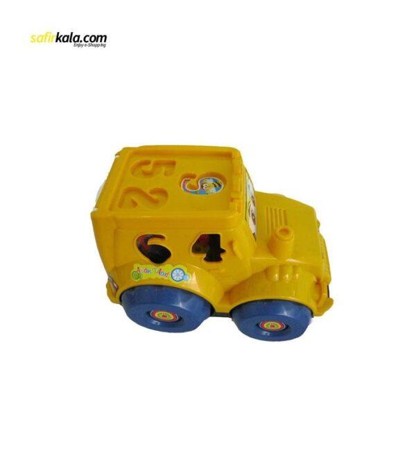ماشین اسباب بازی مدل تراکتور اشکال و اعداد   سفیرکالا
