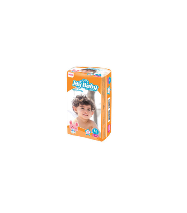 پوشک بچه مای بیبی کد 01 سایز 4 بسته 8 عددی | سفیرکالا