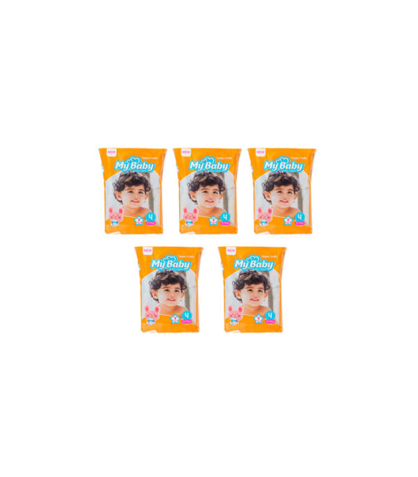 پوشک کودک مای بیبی مدل خانواده شاد سایز 4 بسته 8 عددی مجموعه 5 عددی | سفیرکالا