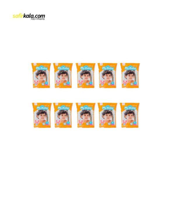 پوشک کودک مای بیبی مدل خانواده شاد بسته 8 عددی مجموعه 10 عددی | سفیرکالا
