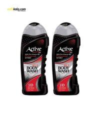 پک شامپو بدن مردانه اکتیو سری Sport مدل Black بسته 2 عددی | سفیرکالا