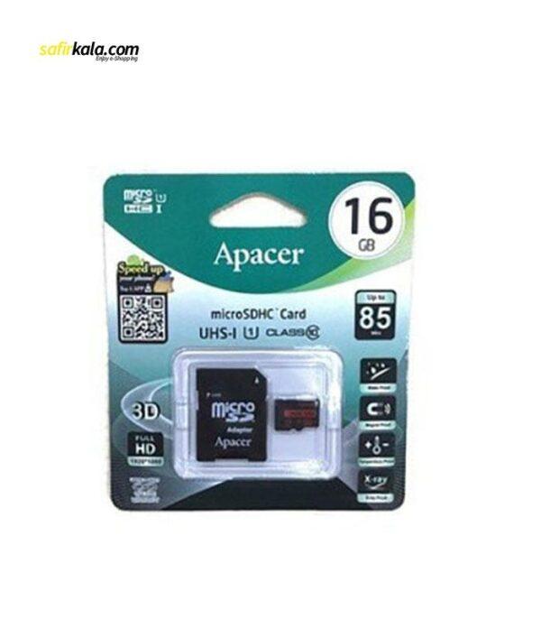کارت حافظه microSDHC اپیسر مدل AP16G کلاس 10 استاندارد UHS-I U1 سرعت 85MBps ظرفیت 16 گیگابایت | سفیر کالا