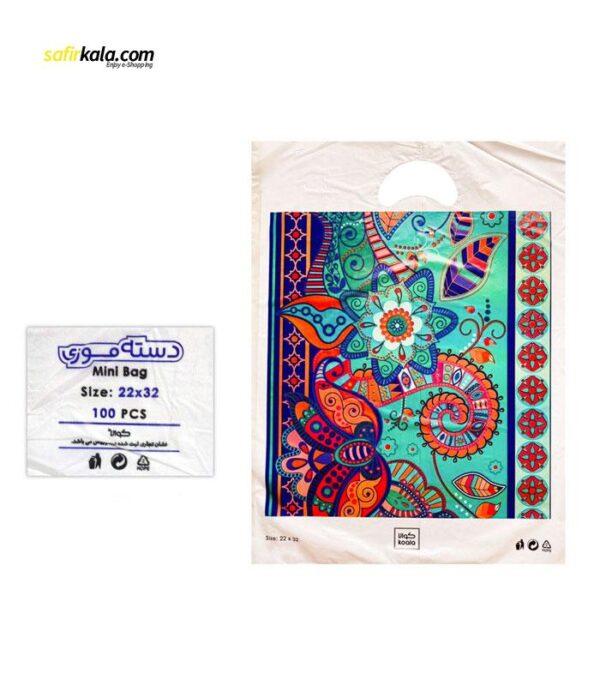 کیسه خرید کوالا مدل 3421301 بسته 100 عددی   سفیرکالا