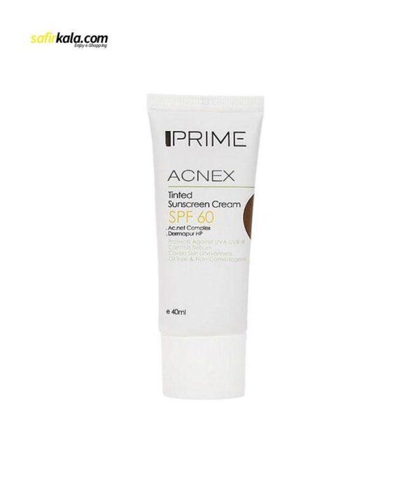 کرم ضد آفتاب رنگی پریم مدل Acnex Tinted حجم 40 میلی لیتر | سفیرکالا