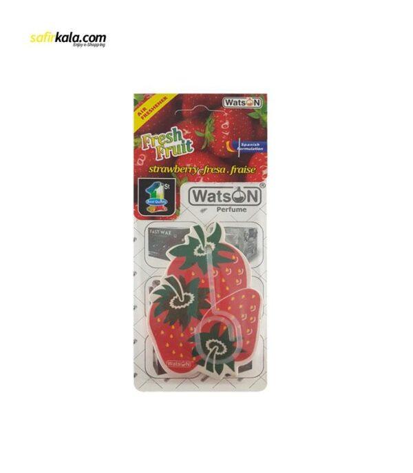 خوشبو کننده خودرو واتسون مدل Card-Strawberry   سفیرکالا