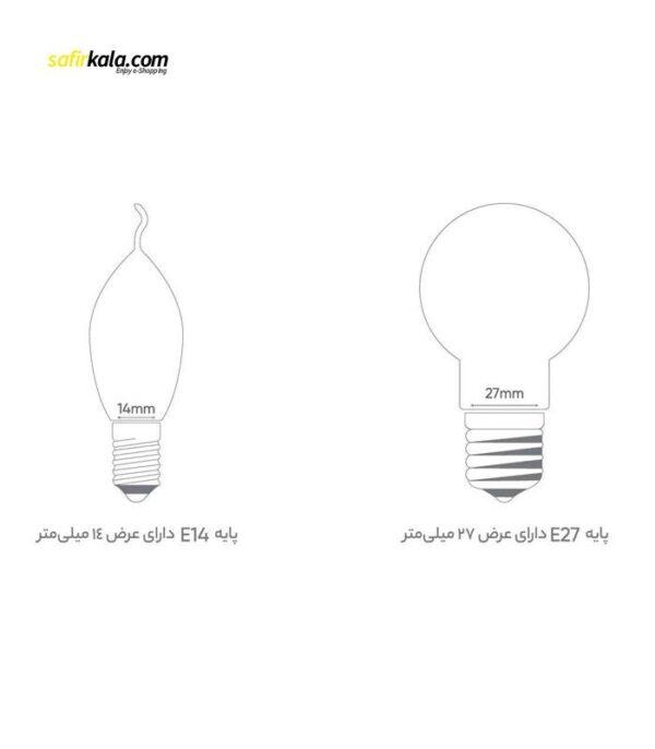 لامپ ال ای دی 12 وات بروکس مدل A60 پایه E27 | سفیرکالا
