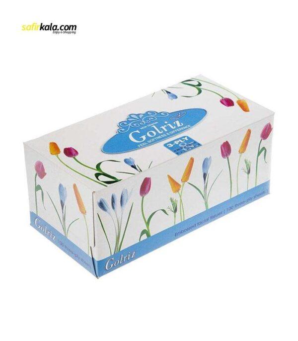 دستمال کاغذی 100 برگ گلریز گلدار طرح لاله | سفیرکالا
