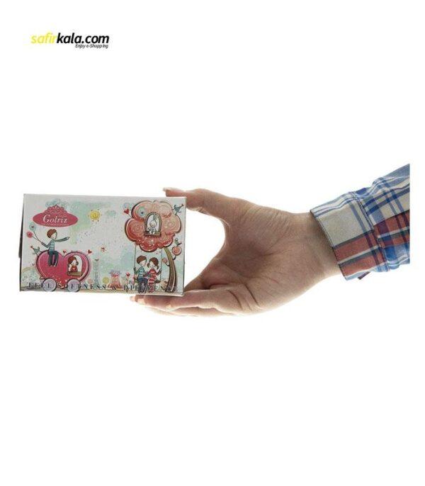 دستمال کاغذی 50 برگ گلریز گلدار طرح خاطرات كودكي   سفیرکالا