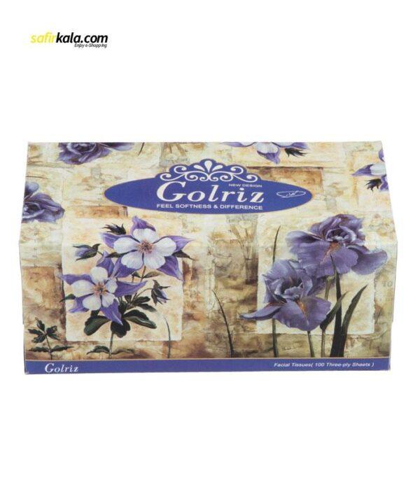 دستمال کاغذی 100 برگ گلریز گلدار طرح زنبق | سفیرکالا