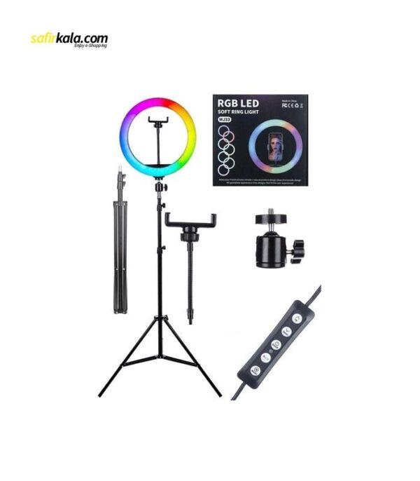 رینگ لایت مدل MJ33-RGB | سفیرکالا