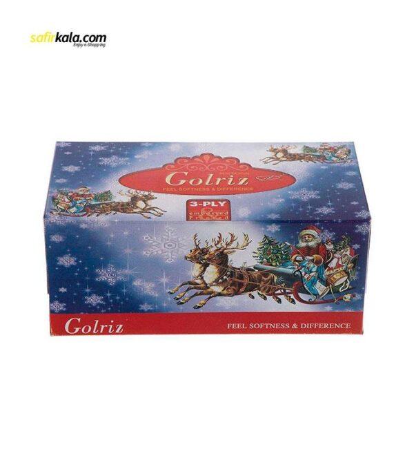 دستمال کاغذی 100 برگ گلریز مدل بابانوئل بسته 12 عددی | فروشگاه اینترنتی سفیر کالا