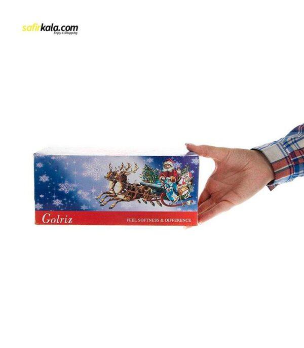 دستمال کاغذی 100 برگ گلریز مدل بابانوئل بسته 2 عددی   فروشگاه اینترنتی سفیر کالا