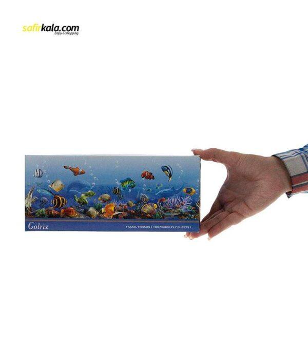 دستمال کاغذی 100 برگ گلریز مدل آکواریوم بسته 8 عددی   فروشگاه اینترنتی سفیر کالا