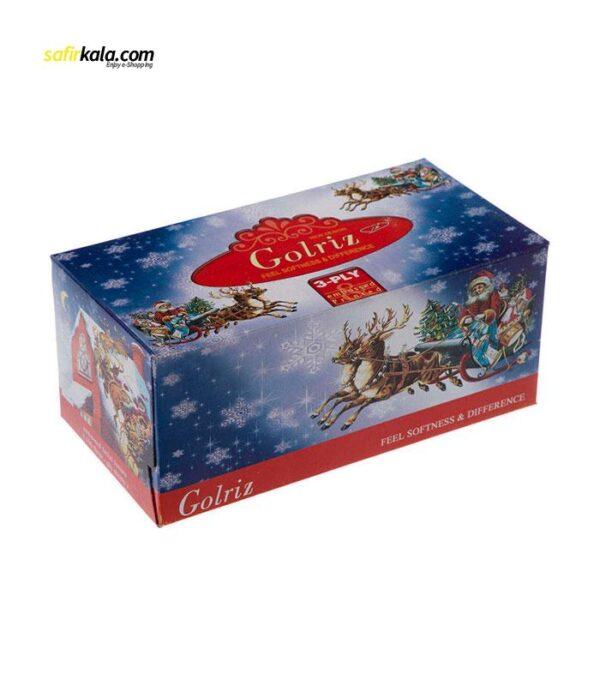 دستمال کاغذی 100 برگ گلریز مدل بابانوئل بسته 8 عددی   فروشگاه اینترنتی سفیر کالا