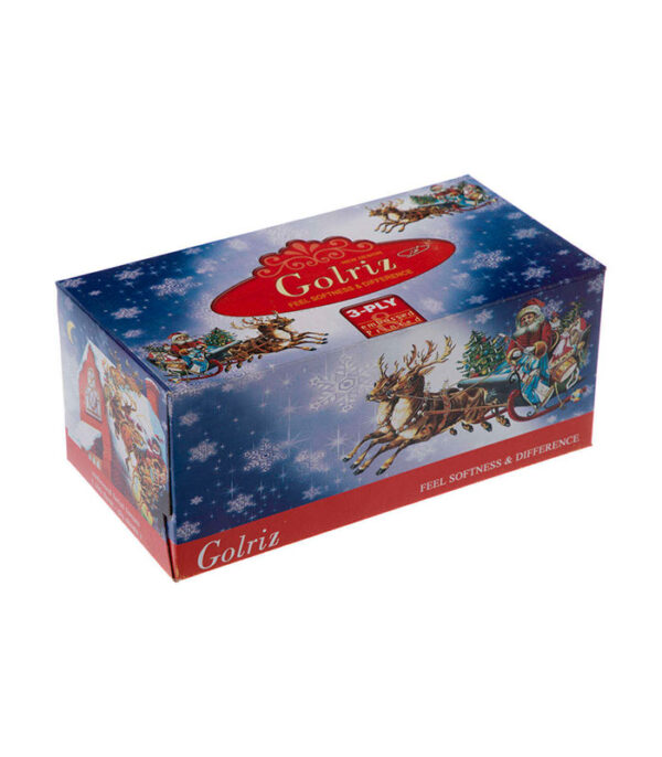 دستمال کاغذی 100 برگ گلریز مدل بابانوئل بسته 24 عددی | فروشگاه اینترنتی سفیر کالا