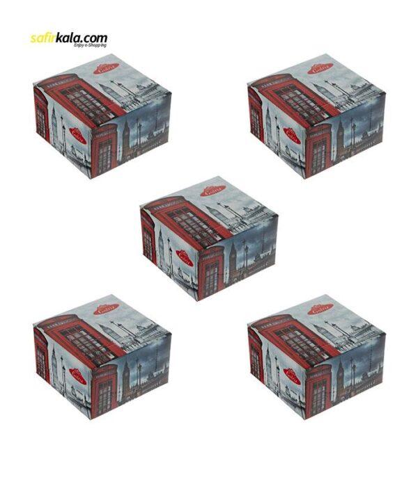 دستمال کاغذی 50 برگ گلریز مدل لندن بسته 5 عددی | فروشگاه اینترنتی سفیر کالا