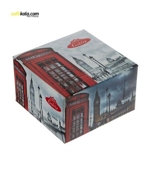 دستمال کاغذی 50 برگ گلریز مدل لندن بسته 12 عددی | فروشگاه اینترنتی سفیر کالا